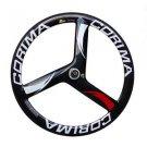 Carbon tri spoke wheel road bike 3-spoke carbon bike rear wheel 700C tubular