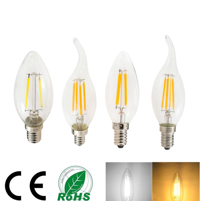 E12 E14 LED Vintage Edison Bulb Incandent Filament Lamp Light 2/4/6 W 110/220 V