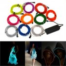 1M/2M/3M/4M/5M 10 colors Flexible EL Wire Neon Glow Light party car decoration