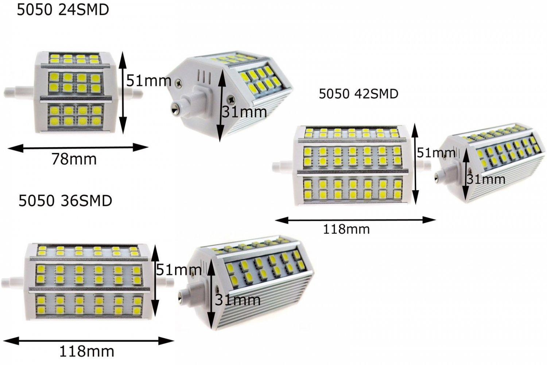 R7S J78 J118 24/36/48 SMD5050 5730 LED Flood Light Replacement Halogen Tube Bulb