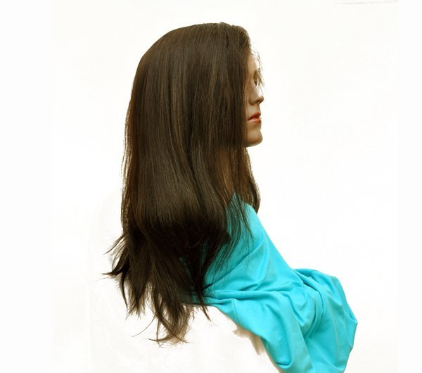 16 Inches Human Hair Silky Straight Glueless Lace Front Wigs 150% Density
