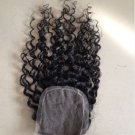 18 Inches Human Hair Natural Black Curly 4x4 inches Lace Top Closure