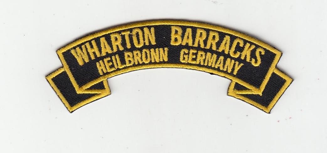 Wharton Barracks embroidered rocker tab