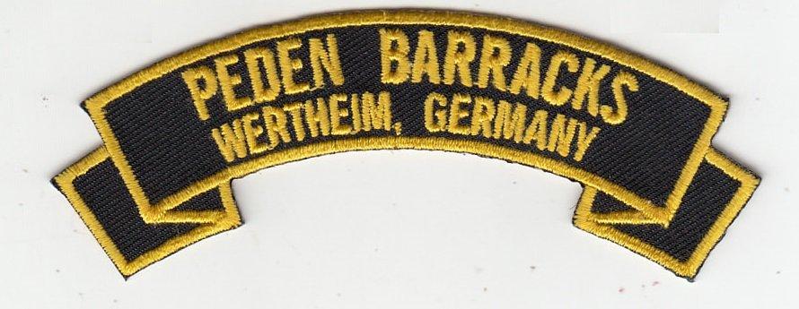 Peden Barracks (Wertheim) rocker tab patch (pre order)