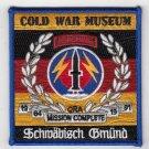 US Cold War Museum Schwäbisch Gmünd fundraiser patch- Batch 2 presales