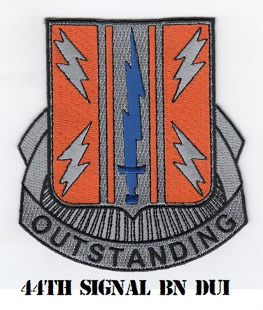 44th Signal Battalion Dui 4 Embroidered Patch