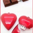 Heart Shaped Necklace 8G USB & Chocolate 8G USB Set