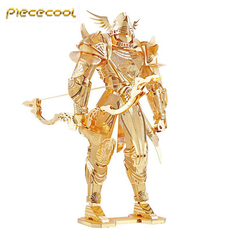 Piececool 3D Metal Puzzle Knight Of Firmament Armor Building Kits P072G DIY 3D Laser Cut Models Toys
