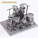Piececool 3D Metal Puzzle Drum Set Musical Instruments Building P032S DIY 3D Laser Cut Models Toys