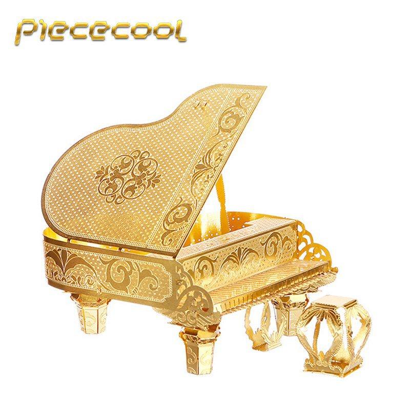 Piececool 3D Metal Puzzle Grand Piano Musical Instruments P024G DIY 3D Laser Cut Models Toys