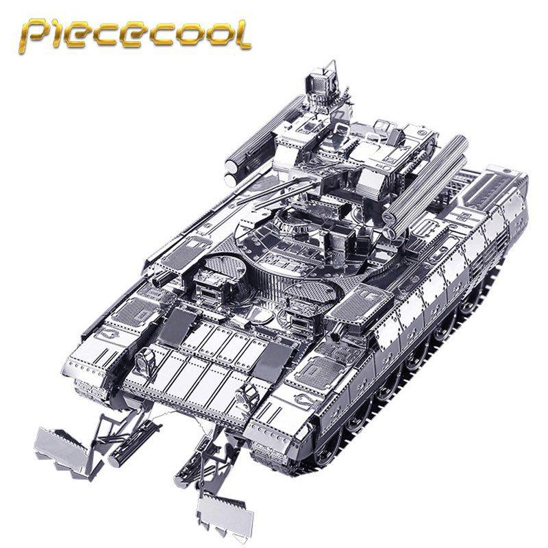 Piececool 3D Metal Puzzle BMPT Tank Building Kits P051S DIY 3D Laser Cut Models Toys