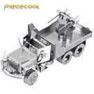 Piececool 3D Metal Puzzle M35 Military Motor Lorry Truck P034S DIY 3D Laser Cut Models Toys