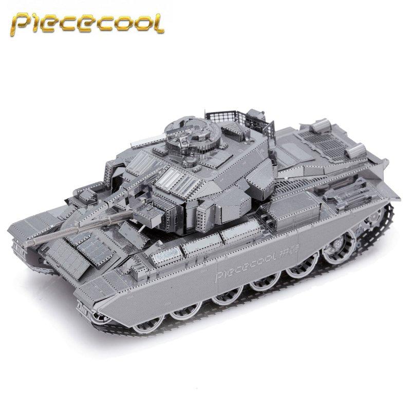 Piececool 3D Metal Puzzle CENTURION AFV Tank Building Kits P058S DIY 3D Laser Cut Models Toys