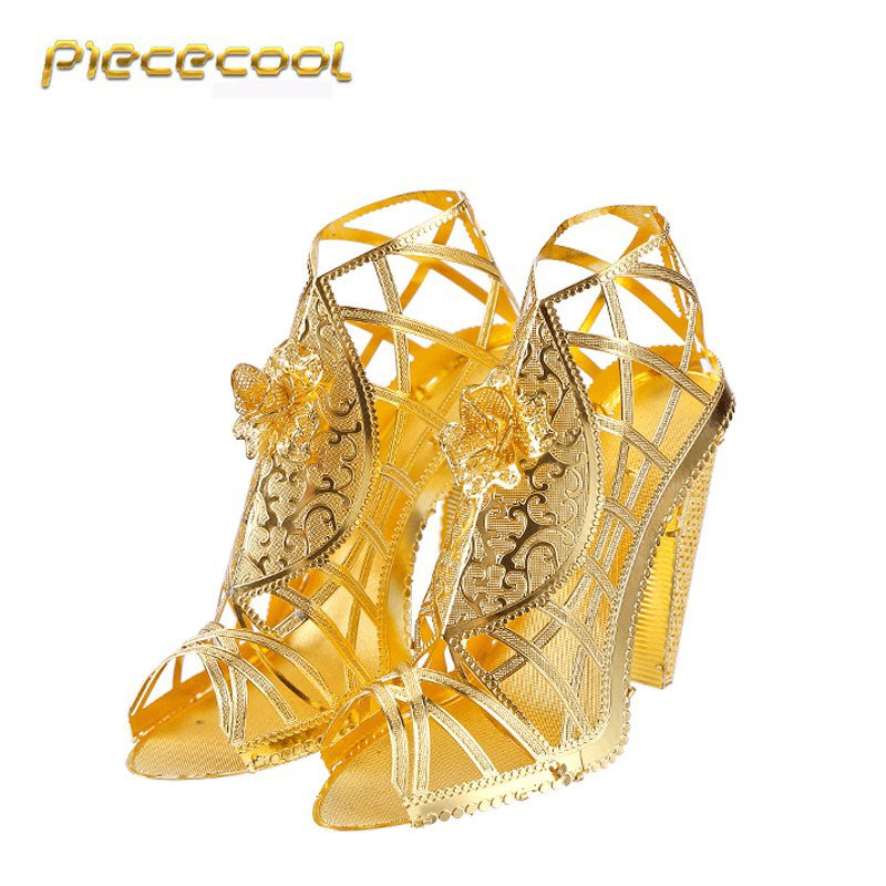 Piececool 3D Metal Puzzle High Heeled Sandal P030G DIY 3D Laser Cut Assemble Models Toys For Audit