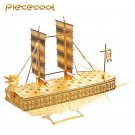 Piececool 3D Metal Puzzle Korea Geobukseon Boat P020G DIY 3D Laser Cut Models Toys For Audit