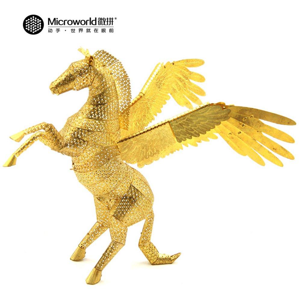 Microworld 3D Metal Puzzle Pegasus Fly Horse Model Z004 DIY 3D Laser Cut Assemble Jigsaw Toys