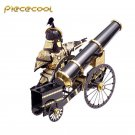 Piececool 3D Metal Puzzle Artilleryman Style Cannon Model Kits P080-KG DIY Laser Cut Jigsaw Toys