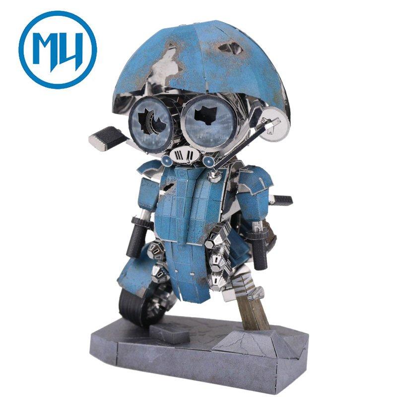 MU 3D Metal Puzzle Sqweeks TR The Last Knight Model YM-N054 DIY 3D Laser Cut Jigsaw Toys For Audit