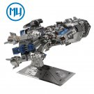 MU 3D Metal Puzzle Starcraft 2 Battle Cruiser Model Kits DIY 3D Laser Cut Jigsaw Toys
