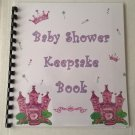 Baby Shower Girl Keepsake Book