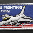 F-16 Fighting Falcon Military Aircraft Embroidered Patch 4 X 2.1 Inches