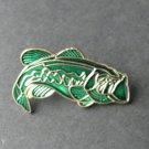 Bass Fish Fresh Water Fishing Game Lapel Pin Badge 3/4 Inch