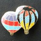 Two Hot Air Balloon Balloons Combo Lapel Pin Badge 1 Inch