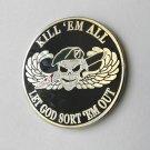 Kill Em All Let God Sort Em Out Special Forces Airborne Lapel Pin Badge 1 Inch