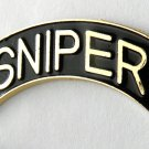 Sniper Special Forces US Army Gold Black Lapel Pin Badge 1.25 Inches