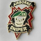 US Special Forces Sniper Green Beret Army Airborne Lapel Pin Badge 1.25 Inches