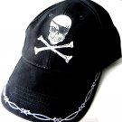 Skull And Cross Bones Pirate Jolly Roger Embroidered Baseball Cap Hat