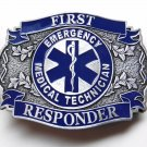 EMT Emergency Medical Technician First Responder Belt Buckle 3.2 Inches Made USA