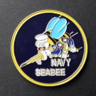 USN Seabee Seabees Insignia Challenge Coin 1.6 Proudly Served Duty Honor Country