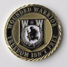 """Wounded Warrior Patriotic Series Challenge Coin 1.6"""""""" New In Case"""