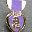 Purple Heart Combat Veteran Mini Medal Lapel Pin Badge 1 Inch