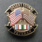 Desert Storm Vet Gulf War Veteran 1990 1991 USA Lapel Pin Badge 1 Inch