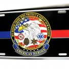 American Heroes Police EMT Medic Fire Sheriff License Plate 6 X 12 Inches