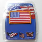 USA United States Patriotic 3 Pin & Patch Gift Set Lapel Pin Badge New