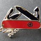Switzerland Swiss Army Knife Cutout Lapel Pin Badge 1 Inch