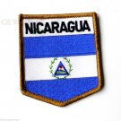 Nicaragua World Country Shield Flag Patch 3 Inches
