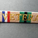 Desert Storm Veteran Embroidered Key Ring Bag Tag Strap 5 X 1 Inches