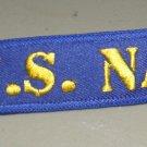 US Navy USN Veteran Embroidered Key Ring Bag Tag Strap 5 X 1 Inches