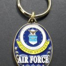 Air Force USAF Keyring Key Chain Ring Keychain 1.6 X 1.25 Inches Embossed US
