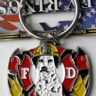 Fire Dept Search And Rescue Keyring Key Chain 1.5 Inches