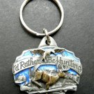I'D Rather Be Hunting Key Chain Ring Keyring Keychain 1.5 Inches Enamel