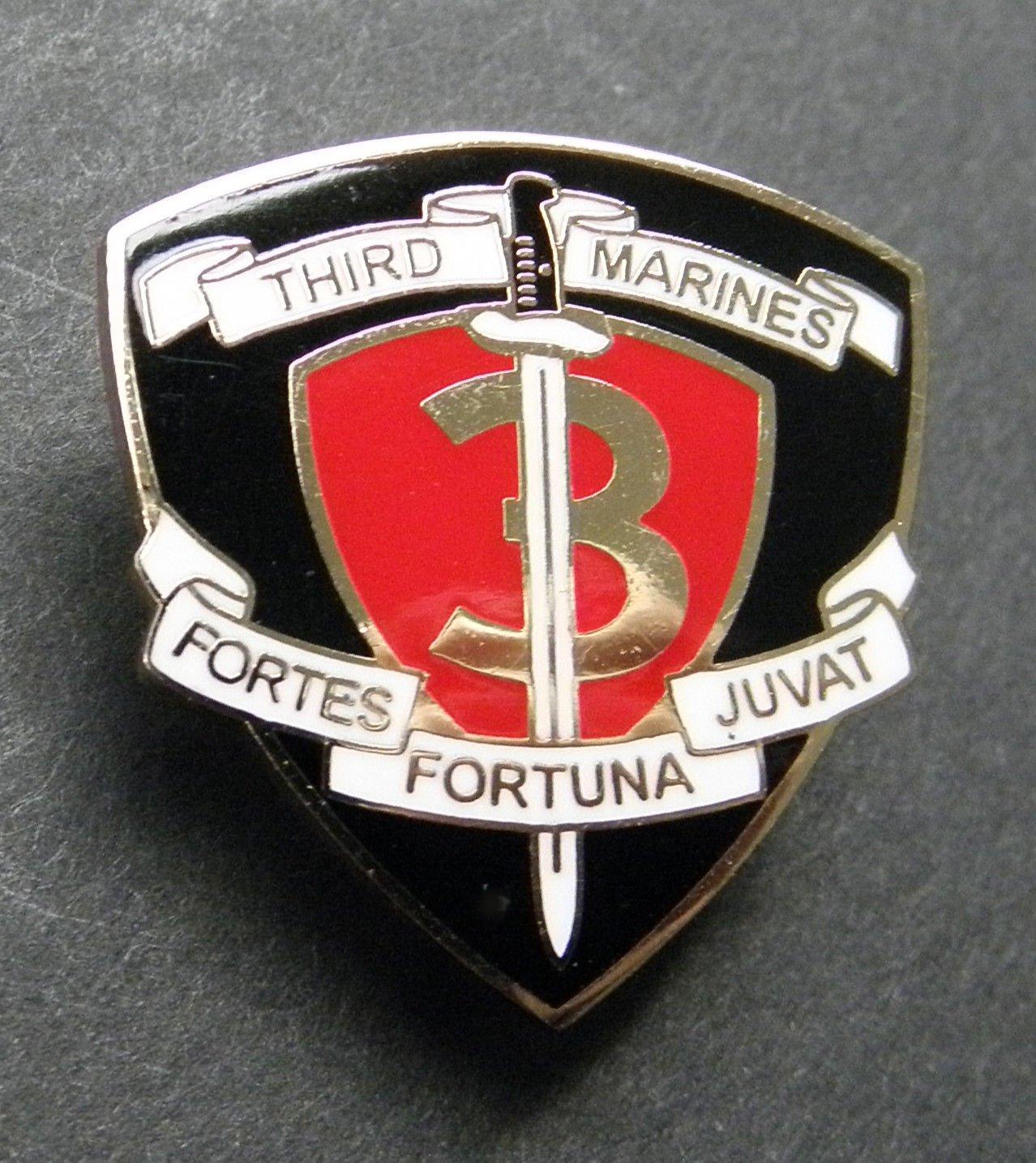 Third Marines 3Rd Marine Infantry Regiment Fortes Fortuna Juvat Lapel Pin 1 Inch