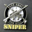 Sniper One Shot One Kill Special Ops Lapel Pin Badge 1.2 Inches