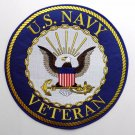 US Navy USN Veteran Vet Large High Quality Embroidered Jacket Patch 12 Inches