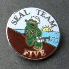 Seal Team Five 5 US Navy USN Lapel Hat Pin Badge 1 Inch