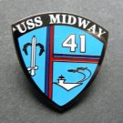 US Navy USN USS Midway Lapel Pin Badge 1.2 Inches Aircraft Carrier